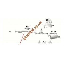 Резонатор Субару Легаси / Аутбек 2.0/2.0D 05 (Subaru Legacy / Outback 2.0/2.0D 05) (46.27) Polmostrow алюминизированный