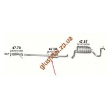 Резонатор Киа Сид (Kia Ceed) 1.4/1.6 06-09 (47.68) Polmostrow алюминизированный