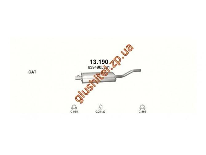Глушитель Мерседес Вито (Mercedes Vito) 639 3.0D 07- (13.190) Polmostrow алюминизированный