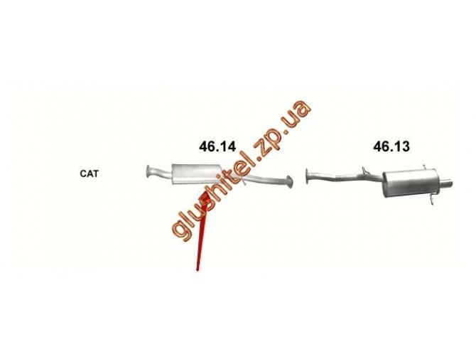 Резонатор Субару Импреза 2.0 05 (Subaru Impreza 2.0 05) (46.14) Polmostrow алюминизированный