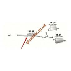 Резонатор Субару Аутбек Subaru 2.5 (Outback 2.5) (46.17) 03-09 Polmostrow алюминизированный
