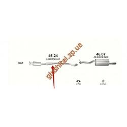 Резонатор Субару Аутбек 2.5 (Subaru Outback 2.5) (46.24) 00-03 Polmostrow алюминизированный