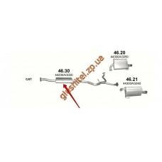 Резонатор Субару Аутбек 3.0 (Subaru Outback 3.0) (46.30) 03-09 Polmostrow алюминизированный