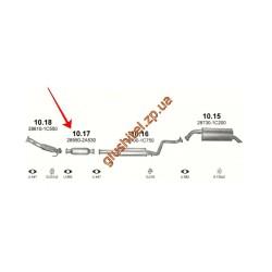 Заменитель катализатора Хюндай  Гетс (Hyundai Getz) 1.5 TDi 05-09 (10.17) Polmostrow алюминизированный