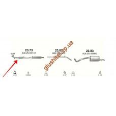 Резонатор (средняя часть глушителя) Сеат Ибица (Seat Ibiza) / Шкода Фабия (Skoda Fabia) / Фольксваген Поло (Volkswagen Polo) 1.2i (23.73) Polmostrow алюминизированный