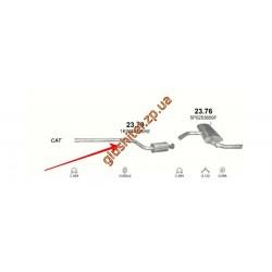 Резонатор Сеат Алтея (Seat Altea) / Сеат Леон (Seat Leon) 1.6i 16V 05-06 (23.79) Polmostrow алюминизированный