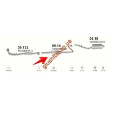 Резонатор Хонда Аккорд (Honda Accord) 86-89 2.0 Aerodeck (09.14) Polmostrow алюминизированный