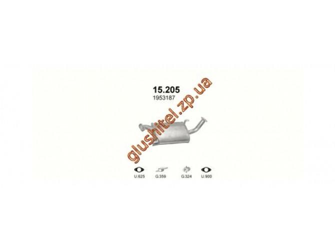 Резонатор Ниссан Террано I (Nissan Terrano I) / Форд Маверик (Maverick) 2.4 4X4 93-98 (15.205) Polmostrow алюминизированный