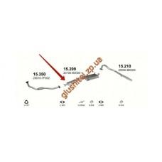 Резонатор Ниссан Террано (Nissan Terrano) 88-93 2.7TD 4X4 SWB (15.209) Polmostrow алюминизированный