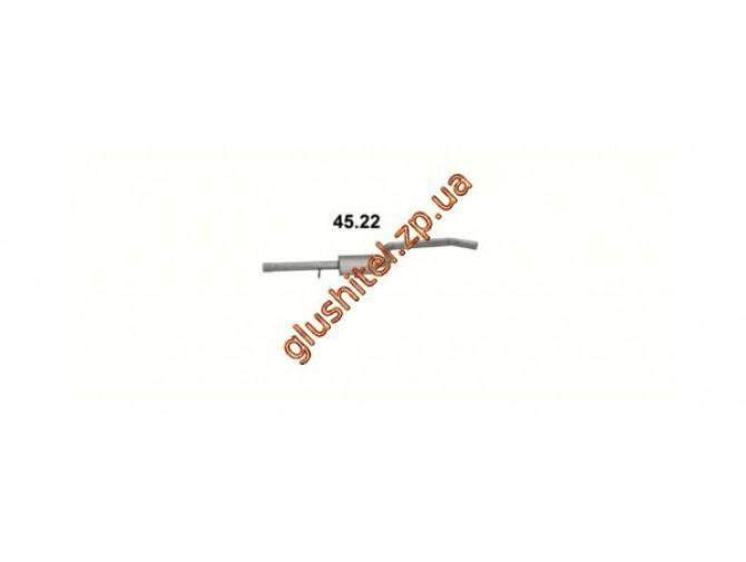 Резонатор Крайслер Себринг (Chrysler Sebring) 2.5   96-00 (45.22) Polmostrow алюминизированный