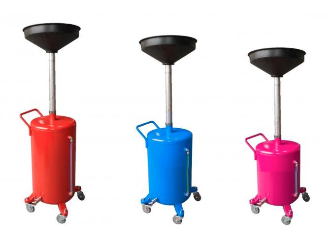 Установка для слива масла металлическая (100л.) УСМ-100 с уровнем масла Rudes