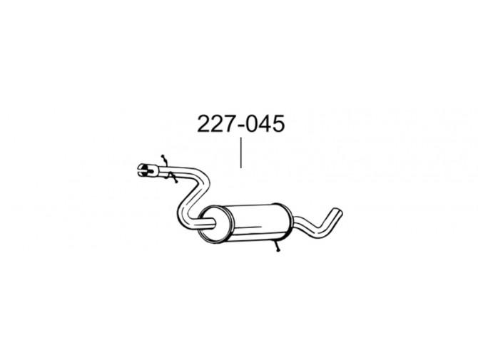 Резонатор Сеат Алтея/Леон (Seat Altea / Leon) 1.4 Tsi /2007 - 12/2012 (227-045) Bosal 23.87 алюминизированный