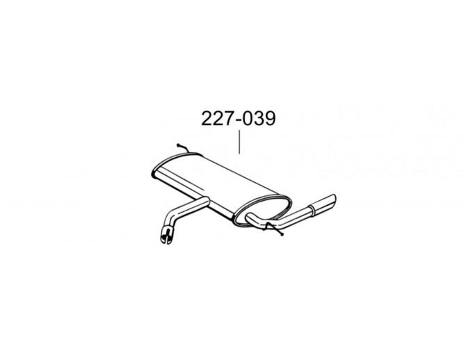 Глушитель Сеат Алтея (Seat Altea)/Сеат Толедо (Seat Toledo) 1.9D 04-10 (227-039) Bosal 23.30 алюминизированный