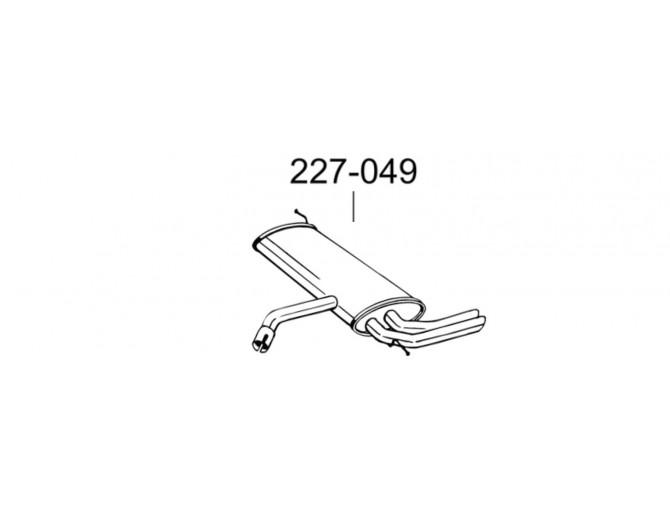 Глушитель Сеат Леон (Seat Leon) 07- (227-049) Bosal алюминизированный