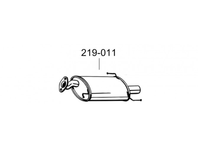 Глушитель Сузуки Сплеш (Suzuki Splash)/Опель Агила Б (Opel Agila B) 1.0/1.2, 08 - 10 (219-011) Bosal 25.18 алюминызированный
