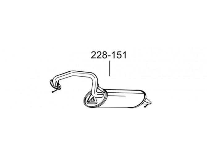 Глушник Тойота Авенсис (Toyota Avensis) 1.8i - 16V 03-08 (228-151) Bosal 26.26 алюминизрованный