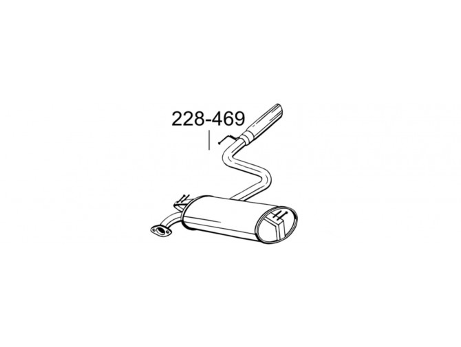 Глушитель Тойота Селика (Toyota Celica) 99- (228-469) Bosal 228-469 алюминизированный