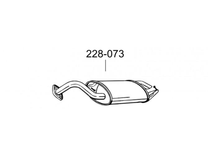 Глушитель Тойота Королла (Toyota Corolla) 1.4i/1.6i 16V 04-06 (228-073) Bosal алюмінізірованний