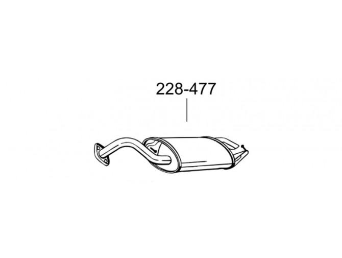 Глушитель Тойота Королла (Toyota Corolla) V 01-03 (228-477) Bosal алюминизированный