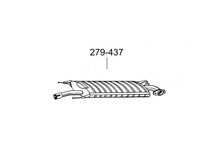Глушитель Тойота РАВ4 (Toyota RAV4) 4 2.0; 2,4 05-08 (279-437) Bosal 26.325 алюминизированный