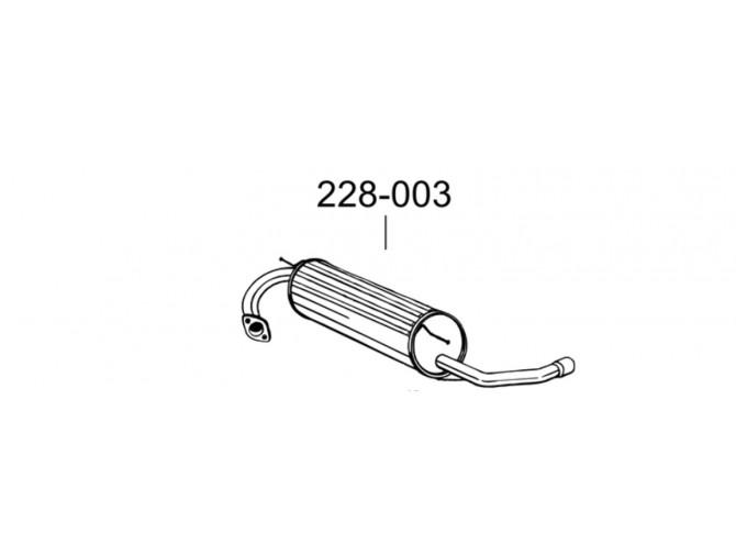 Глушитель Тойота РАВ4 (Toyota RAV4) 1.6 94-00 (228-003) Bosal 26.176 алюминизированный