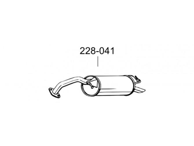 Глушитель Тойота Ярис 1.0 16V 99 (Toyota Yaris 1.0 16V 99) (228-041) Bosal 26.275 алюминизированный