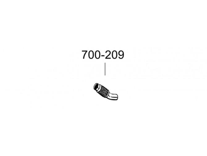 Труба БМВ 318Д (BMW 318D) 07- (700-209) Bosal алюминизированная