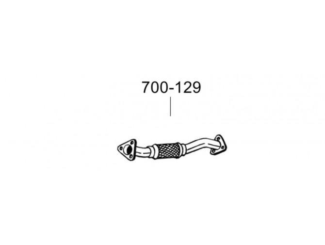 Труба Ситроен Джампер (Citroen Jumper)/Фіат Дукато (Fiat Ducato)/Пежо Боксер (Peugeot Boxer) 3.0D 06- (700-129) Bosal 07.85 алюминизированная
