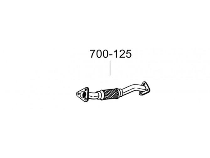 Труба Фиат Дукато 4 (Fiat Ducato IV) 06- (700-125) Bosal алюминизированная
