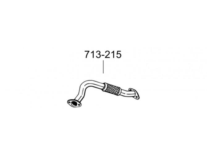 Труба Форд Фокус (Ford Focus) 1.8i /2.0i -16V hb, sedan, kombi 98-05 (713-215) Bosal 08.548 алюминизированная