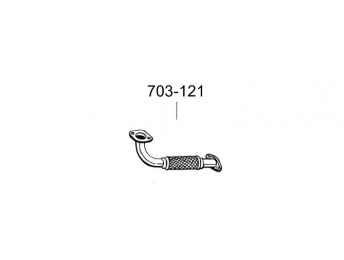 Труба Форд Мондео (Ford Mondeo) 2.0/2.2 DCi/TDCi 01- (703-121) Bosal 08.557 алюминизированная