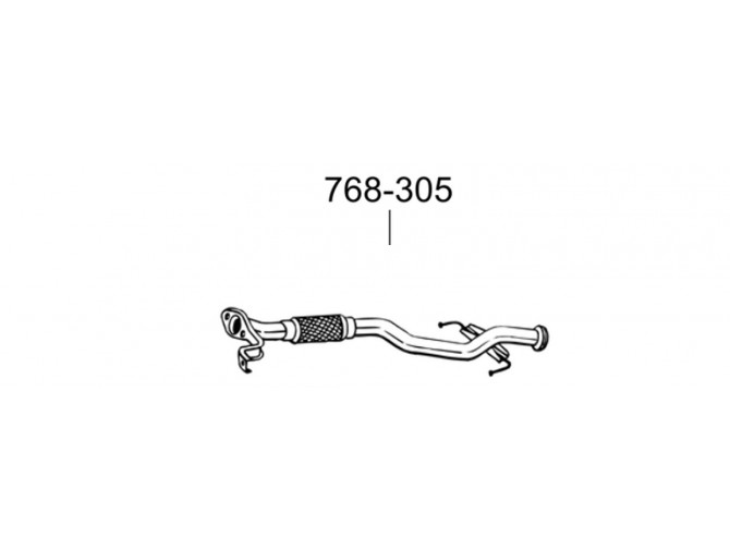 Труба Хюндай Гетс (Hyundai Getz) 1.1 02-03 (768-305) Bosal 10.64 алюминизированная