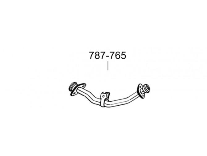 Труба Митсубиси Паджеро (Mitsubishi Pajero) 86-88 (787-765) Bosal алюминизированная
