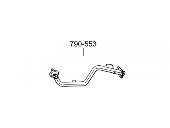 Труба Ниссан Ноут (Nissan Note)/Нисан Микра (Nisan Micra) 1.4, 03-05 (790-553) Bosal 15.230 алюминизированная