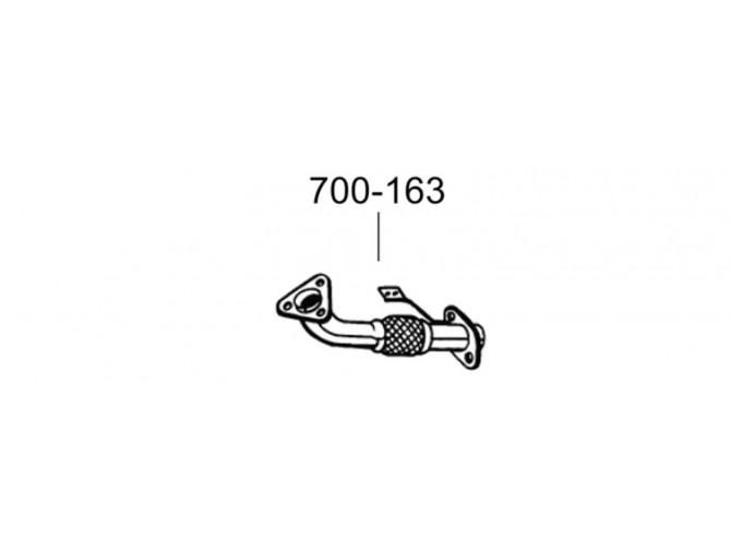 Труба Ниссан Навара (Nissan Navara) 06-10 (700-163) Bosal алюминизированная