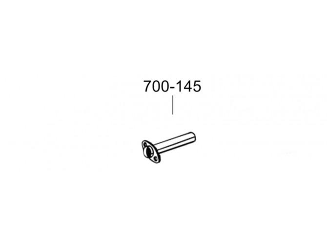 Труба Ниссан Наваро (Nissan Navara) 06- (700-145) Bosal алюминизированная