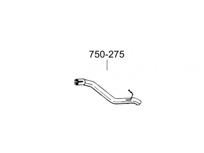 Труба Опель Астра J (Opel Astra J) 10- (750-275) Bosal алюминизированная