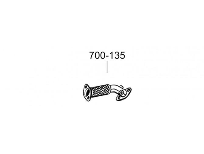 Труба Опель Виваро (Opel Vivaro) 06- (700-135) Bosal алюминизированная