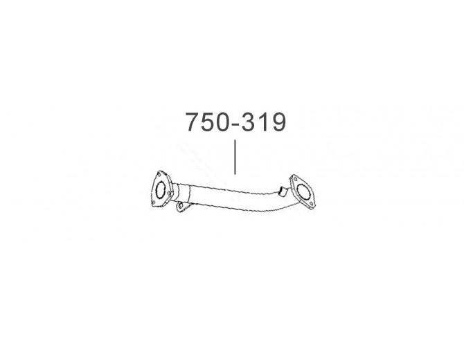 Труба приемная ДЭУ Ланос (Daewoo Lanos) 1.4 (TF699P-1203010-10) Bosal алюминизированный