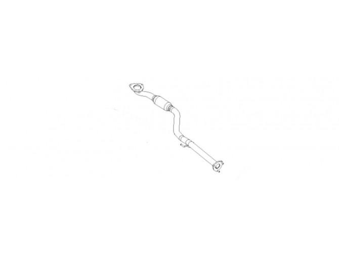 Труба приемная ДЭУ Ланос (Daewoo Lanos) 1.5 Geely (с гофрой) Euro 3 (TF69Y0-1203010-31) Bosal алюминизированный
