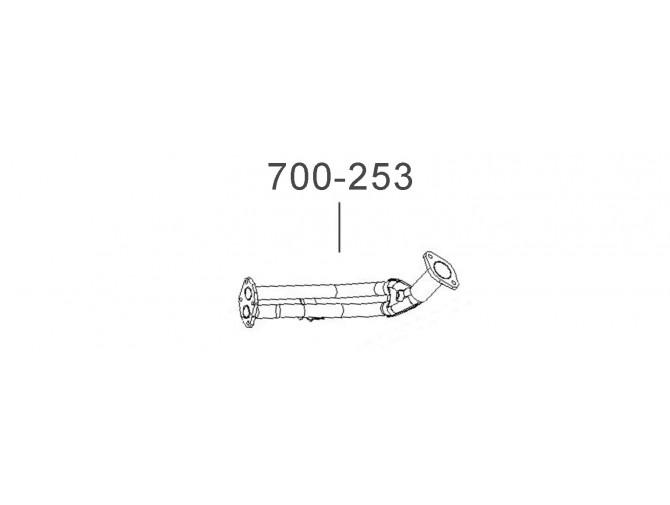 Труба приемная ДЭУ Сенс (Daewoo Sens) инжектор Euro 2 (на прокладку) (TF698P-1203010) Bosal алюминизированный