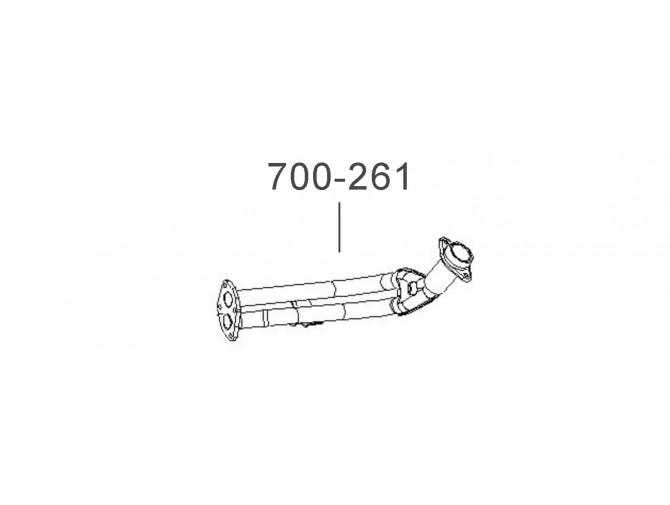 Труба приемная ДЭУ Сенс (Daewoo Sens) инжектор (T1311-1203010-01) Bosal алюминизированный