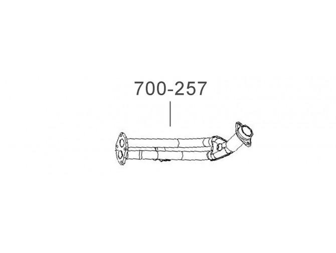 Труба приемная ДЭУ Сенс (Daewoo Sens) (T1301-1203010-11) Bosal алюминизированный