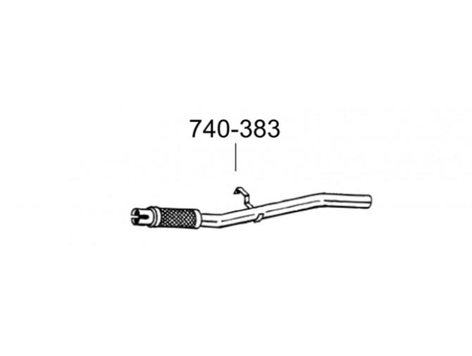 Труба приемная Фиат Сеиценто (Fiat Seicento) 00- (740-383) Bosal 07.429 алюминизированный