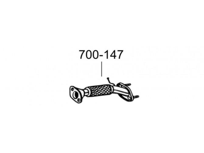 Труба приемная КИА Сиид, Просиид (KIA Ceed, Proceed) 06-09 (700-147) Bosal 47.70 алюминизированный