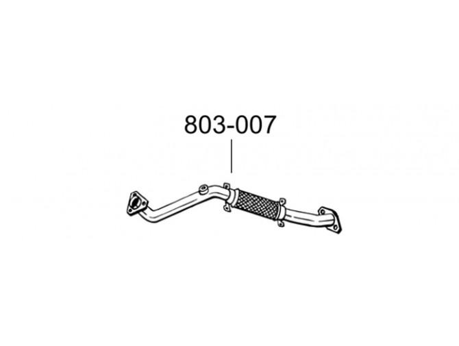 Труба приемная Ниссан Премьера (Nssan Primera) 99-02 (803-007) Bosal 15.243 алюминизированный