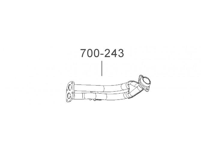 Труба приемная Таврия-1102 (1102-1203010-11) Украина Bosal 38.03 алюминизированный