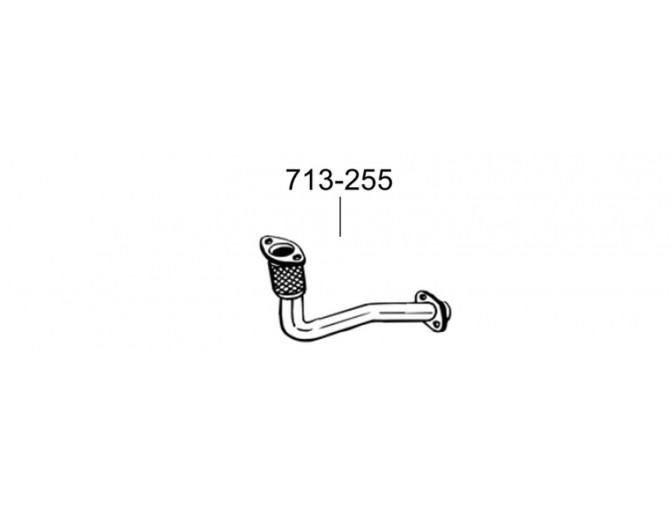 Труба Рено Меган I (Renault Megane I) 1.9TD 96-97 (713-255) Bosal 21.520 алюминизированная