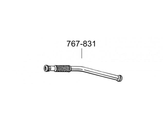 Труба Сааб 9-3 (Saab 9-3) 2.0/2.3 98-00 (767-831) Bosal 48.19 алюминизированная