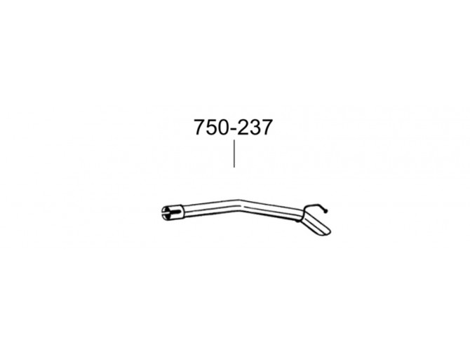 Труба Вольво Ц30 (Volvo C30) 06- (750-237) Bosal алюминизированная